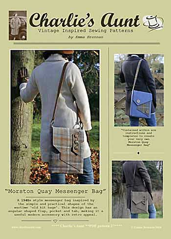 Morston Quay Messenger Bag Pattern - Retail $10.00 - Click Image to Close