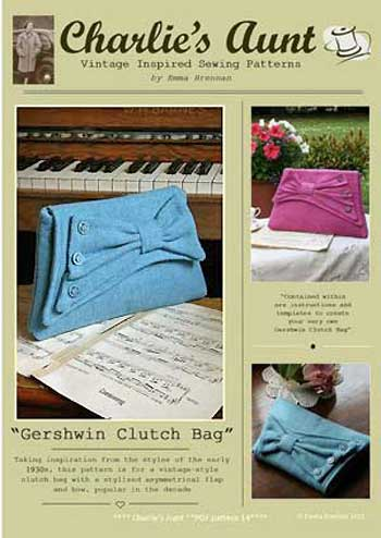 Gershwin & Ellington Clutch Bags Pattern - Retail $9.00 - Click Image to Close